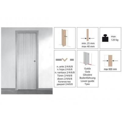 Комплект роликов для складной двери Krona Koblenz 0710-40-4 на 4 дверных полотна