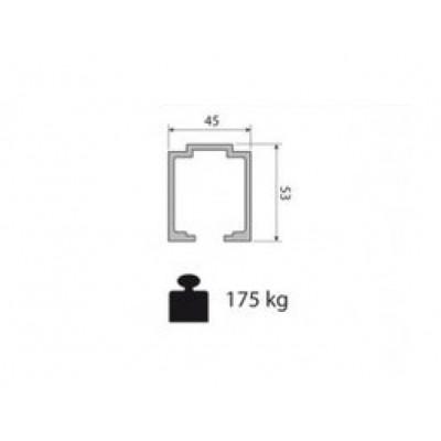 Несущий профиль для раздвижной двери KRONA KOBLENZ 0830 1 длина 2000 мм