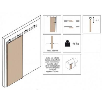 Комплект роликов для раздвижной двери KRONA KOBLENZ  0830-17 5на двери до 175 кг