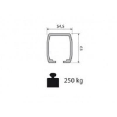 Несущий профиль для раздвижной двери KRONA KOBLENZ 0850 1 длина 2000 мм