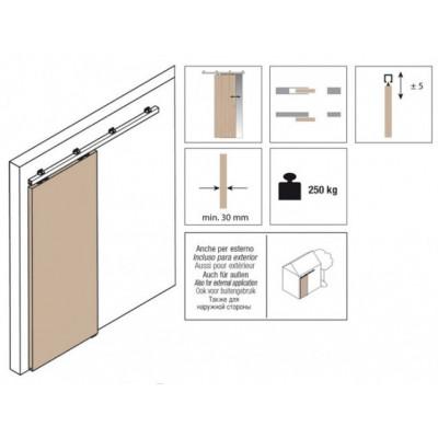 Комплект роликов для раздвижной двери KRONA KOBLENZ  0850-250 5на двери до 250 кг