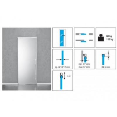 Комплект роликов для стеклянной раздвижной двери KRONA KOBLENZ 1700 на двери до 80 кг