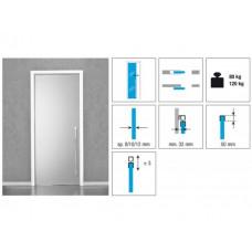 Комплект роликов для стеклянной раздвижной двери KRONA KOBLENZ 1760 на двери до 80 кг