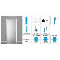 Комплект роликов для стеклянной раздвижной двери KRONA KOBLENZ 1760 ABSU на двери до 80 кг