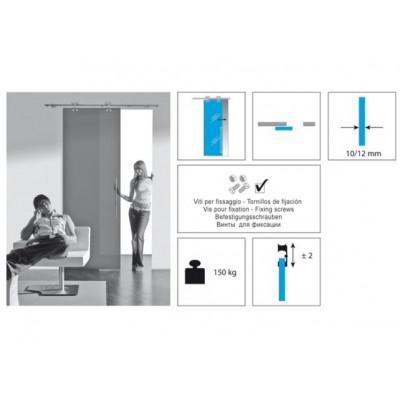 Комплект роликов для стеклянной раздвижной двери KRONA KOBLENZ EXTERUS 7550 1 NS на двери до1 50 кг