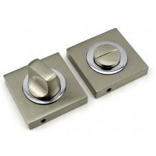Завертка в санузел FUARO BK KM SN/CP никель матовый-хром