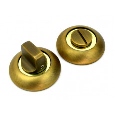 Завертка в санузел FUARO BK RM AB/GP бронза/золото