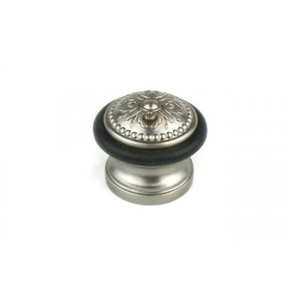 Упор ограничитель хода дверной напольный FUARO Classic DS SM01 AS серебро античное