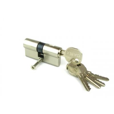 Цилиндровый механизм (личинка, сердцевина) DOMAX N60 ключ-ключ 60 мм. матовый никель