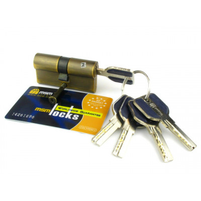 Цилиндровый механизм (личинка, сердцевина) MSM locks C60 ключ-ключ  BR кофе