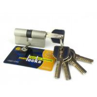 Цилиндровый механизм (личинка, сердцевина) MSM locks C60 ключ-ключ SN матовый никель