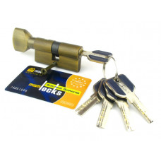 Цилиндровый механизм (личинка, сердцевина) MSM locks CW60 ключ-завертка 60 мм. BR кофе