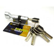 Цилиндровый механизм (личинка, сердцевина) MSM locks CW60 ключ-завертка 60 мм. CP хром