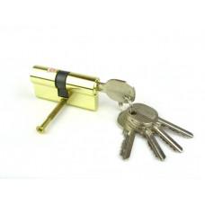 Цилиндровый механизм (личинка, сердцевина) DOMAX N60 ключ-ключ 60 мм. мат.латунь