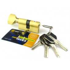 Цилиндровый механизм (личинка, сердцевина) MSM locks CW60 ключ-завертка 60 мм. SB матовое золото
