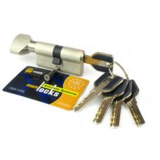 Цилиндровый механизм (личинка, сердцевина) MSM locks CW60 ключ-завертка 60 мм. SN матовый никель